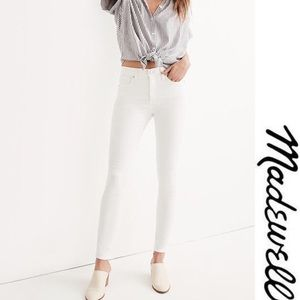 Madewell Winter White skinny skinny Ankle Jeans 27
